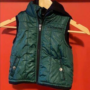 Boy Calvin Klein Vest with hood